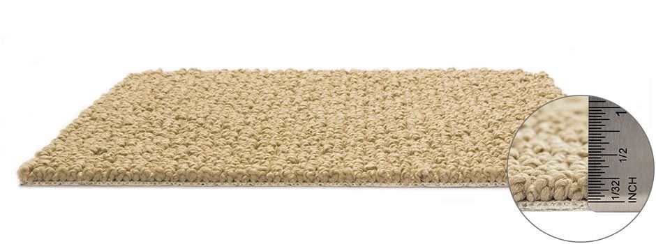 Casual Mood Carpetside View Showing Texture And Thickness