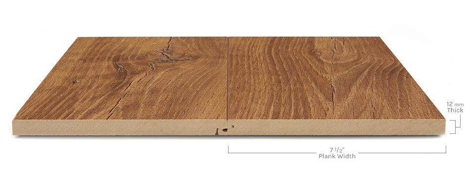 Archer Heights Laminateside View Showing Texture And Thickness