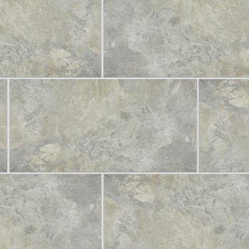 Meridian Luxury Vinyl Tile Flooring Light Grey Color