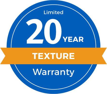 20 Year Limited Texture Retention Warranty Badge