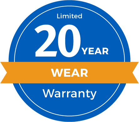 20 Year Limited Abrasive Wear Warranty Badge