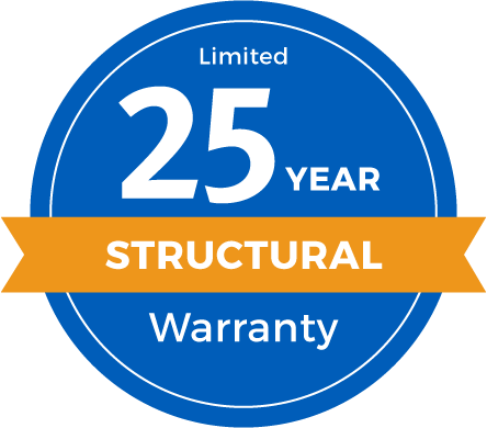 25 Year Limited Structural Warranty Badge