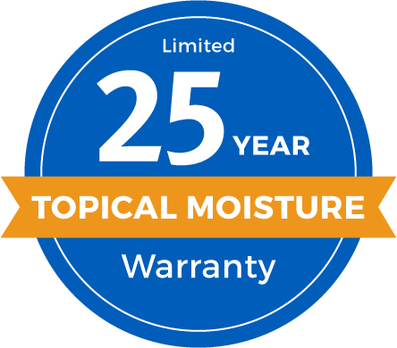 25 Year Limited Topical Moisture Warranty Badge