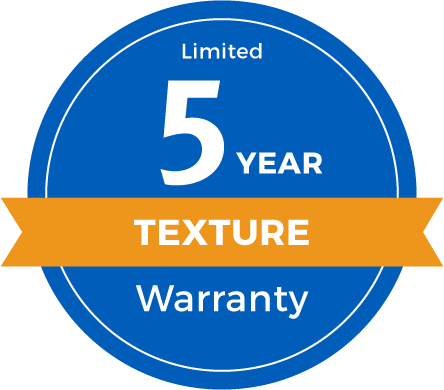 5 Year Limited Texture Retention Warranty Badge