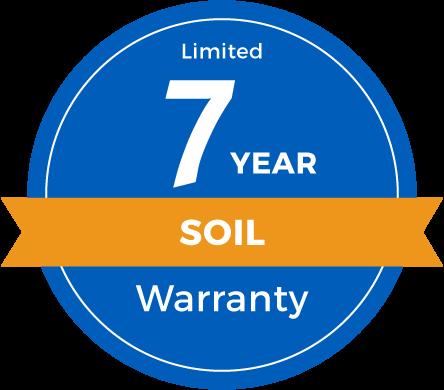 7 Year Limited Soil Warranty Badge