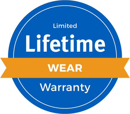 Lifetime Limited Abrasive Wear Warranty Badge