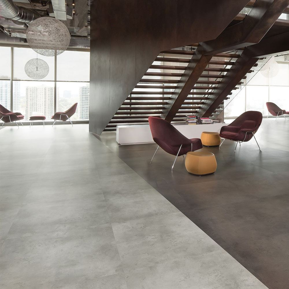 Hot And Heavy Bolder Commercial Vinyl Tile Flooring