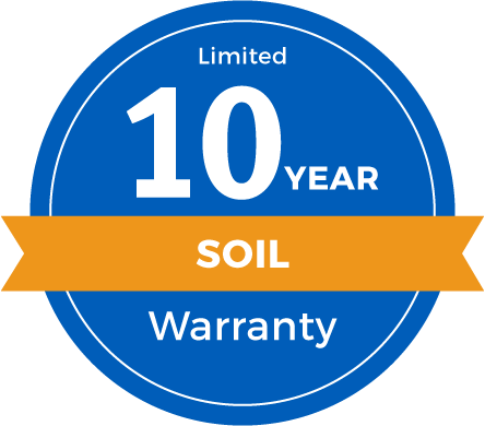 10 Year Limited Soil Warranty Badge