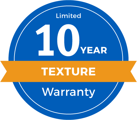 10 Year Limited Texture Retention Warranty Badge