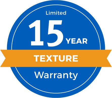 15 Year Limited Texture Retention Warranty Badge
