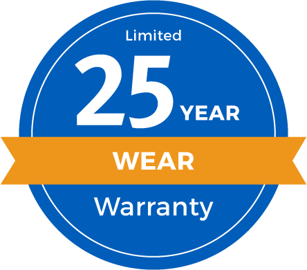 25 Year Limited Abrasive Wear Warranty Badge