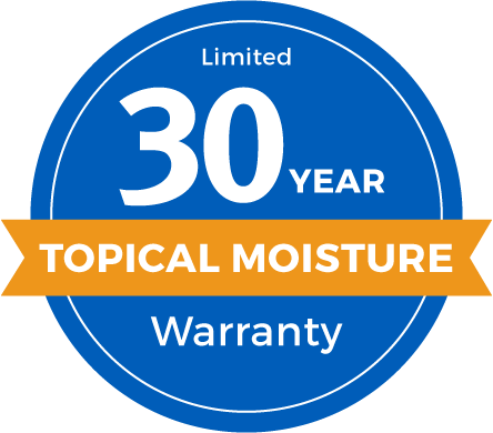 30 Year Limited Topical Moisture Warranty Badge