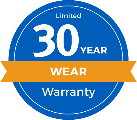 30 Year Limited Abrasive Wear Warranty Badge