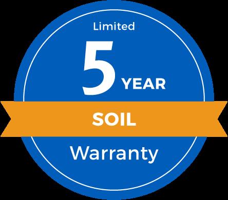 5 Year Limited Soil Warranty Badge