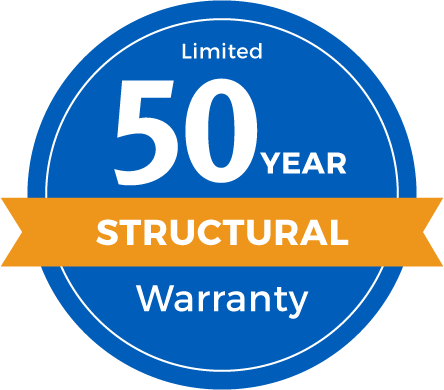 50 Year Limited Structural Warranty Badge