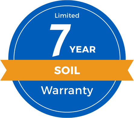 7 Year Limited Soil Warranty Badge