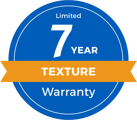 7 Year Limited Texture Retention Warranty Badge