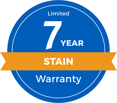 7 Year Limited Stain Warranty Badge