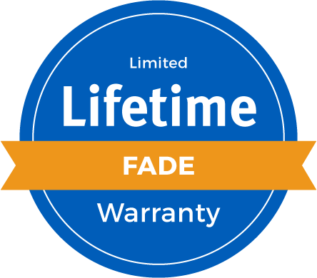 Lifetime Limited Fade Warranty Badge