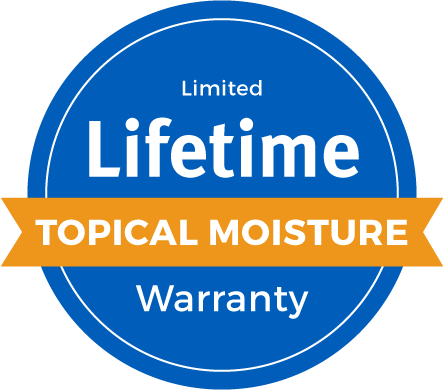 Lifetime Limited Topical Moisture Warranty Badge