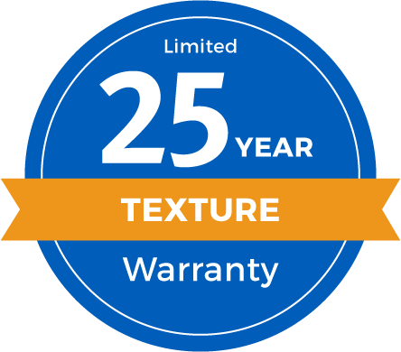 25 Year Limited Texture Retention Warranty Badge