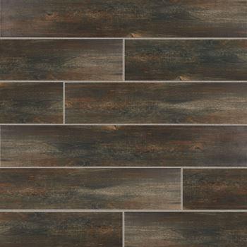Riverbank Porcelain And Ceramic Tile Flooring Ozark Brown Color