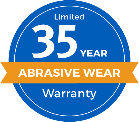 Limited 35 Year Abrasive Wear Warranty Badge