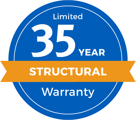 Limited 35 Year Structural Warranty Badge